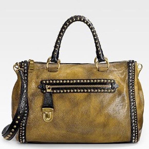 171941cd5e9e Prada Bags | Crackle Leather Studded Bag | Poshmark